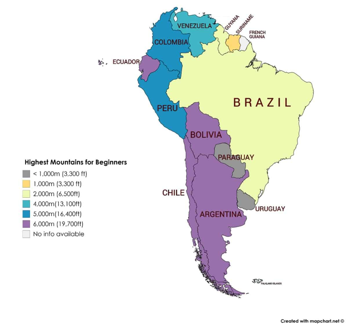 Picture of: 20 Best Mountains To Climb In South America For Beginners 12 Countries Climb Tall Peaks